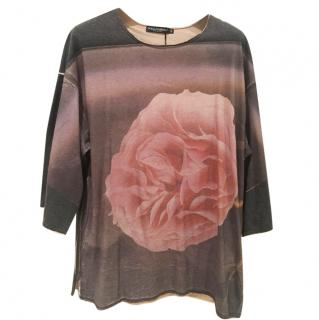 Dolce and Gabbana Rose print top