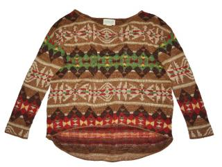 Ralph Lauren women's aztec cotton sweater