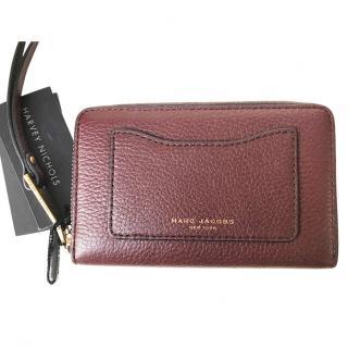 Marc Jacobs Recruit Burgundy Leather Zip Around Purse BNWT RRP�150