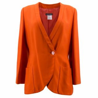 Giorgio Armani Orange Silk Blazer