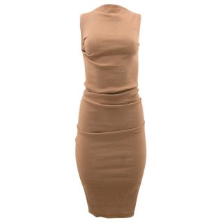 Lanvin Nude Ruched Dress