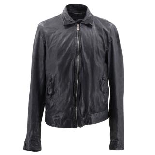 Dolce & Gabbana Black Leather Jacket