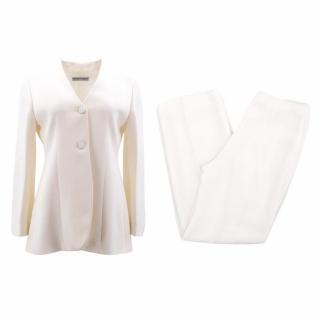 Emporio Armani Cream Trouser Suit