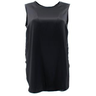 Vince Black Satin Tank Top