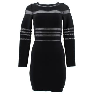 Herve Leger Black Mesh Dress