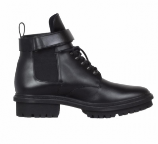Balenciaga leather buckle strap boots