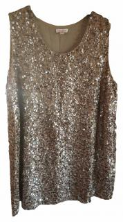 P.A.R.O.S.H: Sequined top, Gold/bronze
