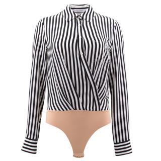 Altuzarra Black and White Striped Bodysuit