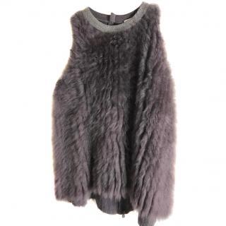 Brunello Cucinelli Luxury Fur and Cashmere Top