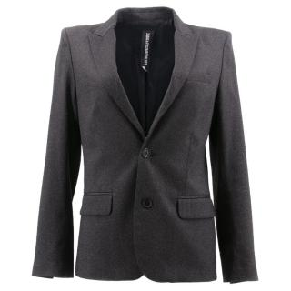 Zadig & Voltaire Grey Tweed Blazer Jacket