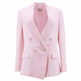 Temperley Pink Double- Breasted Blazer