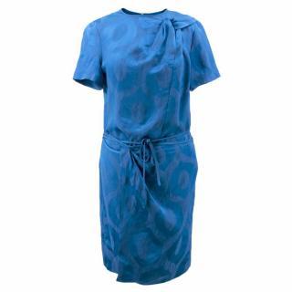 Isabel Marant Blue Layered Wrap Dress