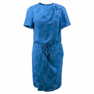 Isabel Marant Blue Layered Wrap Dress