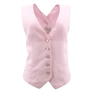 Temperley London Pink Cross Back Waistcoat