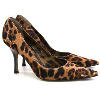 Dolce & Gabbana Leopard Print Heels