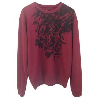 Alexander Mcqueen burgundy cotton sweater