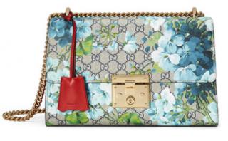 Gucci padlock medium coated-canvas and leather handbag