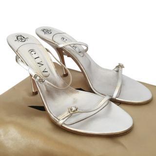 Gina Metallic 2 strap mule
