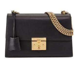 Gucci padlock leather shoulder bag