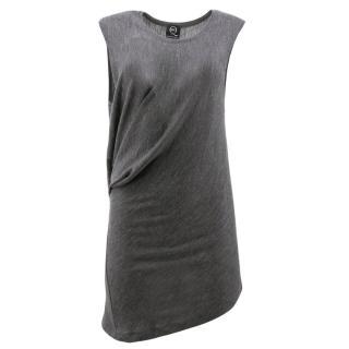 McQ Alexander McQueen Grey Jersey Asymmetric Dress