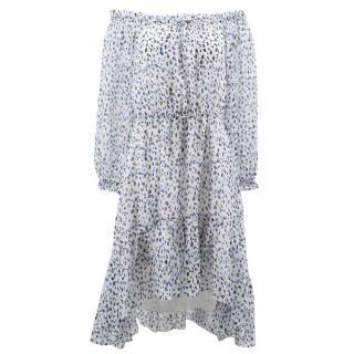 Diane Von Furstenberg Pattern Off the Shoulder Dress