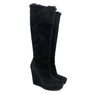 Gucci High Wedge Boots