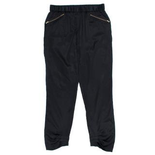 Diane Von Furstenberg Black Satin Trousers