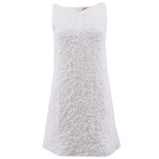 Balenciaga White Cloque Texture Dress