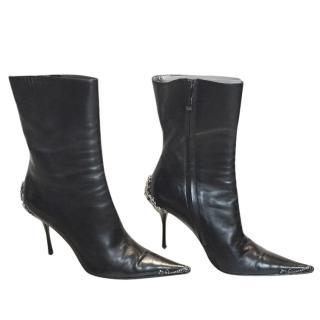 Gianmarco Lorenzi Black Embellished Boots