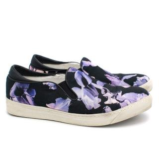MCQ Purple Flower Print Skate Shoes