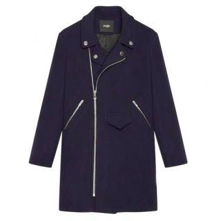 Maje Wool Biker-Style Coat - Darius