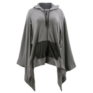T by Alexander Wang Grey Hoodie Cape Sweater