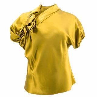 David Szeto Yellow Silk Top