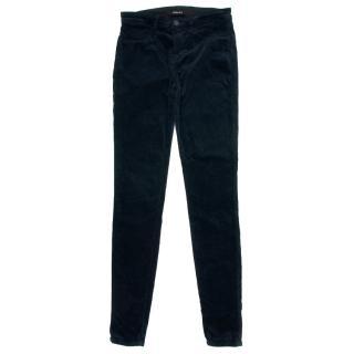 J Brand Navy Velvet Skinny Pants