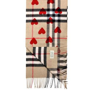 Burberry cashmere heart scarf