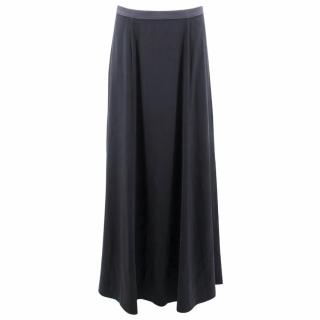 Theyskens' Theory Grey Silk Maxi Skirt