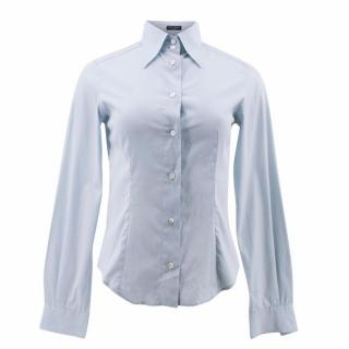Dolce & Gabbana Light Blue Cotton Shirt