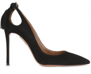 Aquazzura 105MM suede pumps