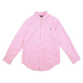 Ralph Lauren Girls Pink Striped Shirt