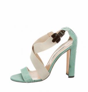 Manolo Blahnik turquoise sandals