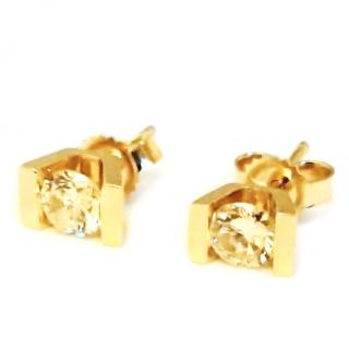 Diamond/gold  solitaire tension earrings 0.50ct