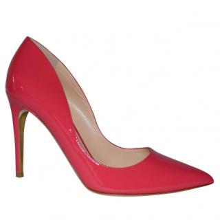 Rupert Sanderson Pink Patent Leather Heel Pumps
