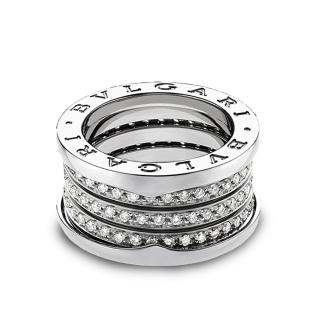 Bulgari 3 Band Diamond Bzero Ring