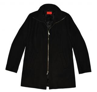 Hugo Boss Men's Black WOOL Full Zip Jacket