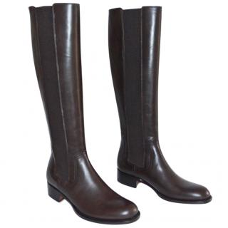Rupert Sanderson Royton Brown Calf leather Knee Boots