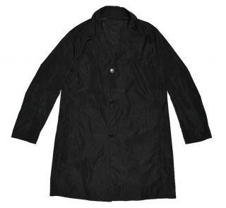 Ermenegildo Zegna men's black button raincoat