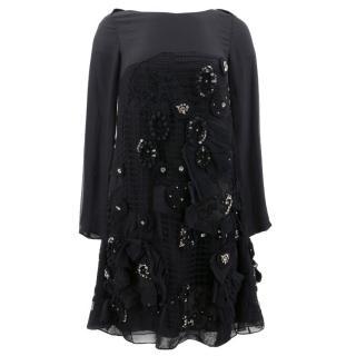 Chloe Black Lace Embellished Dress