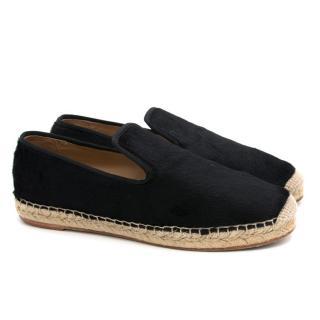 Celine Black Ponyhair Loafers