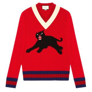 Gucci Panther intarsia jumper