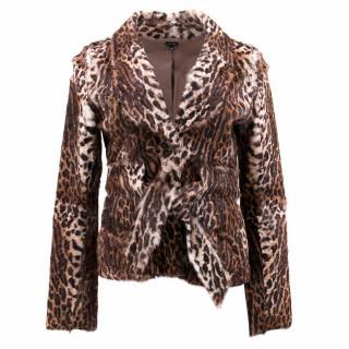 Joseph Goatskin Leopard Print Jacket
